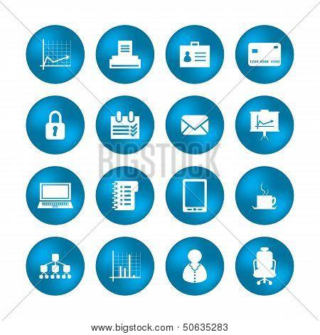 Various Office Icons With Special Design