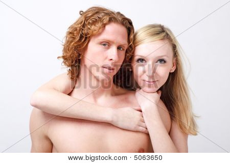 Portrait Of Young Loving Couple