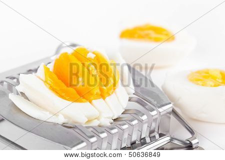 Cutted Egg On Cutter