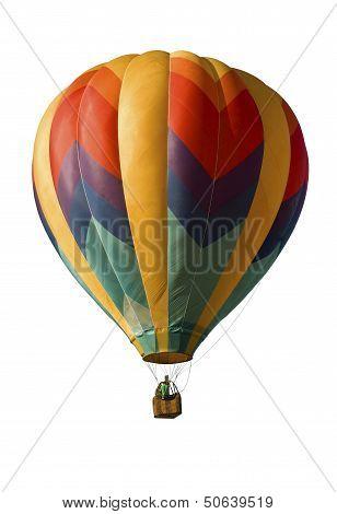 Hot-air Balloon Against White