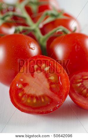 Sliced Fresh Cherry Tomato