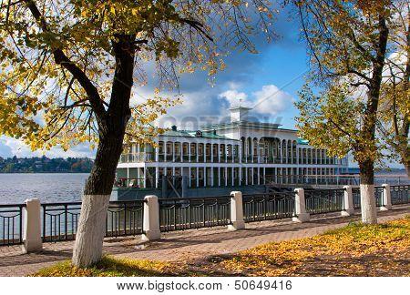 Autumn Season On River Volga