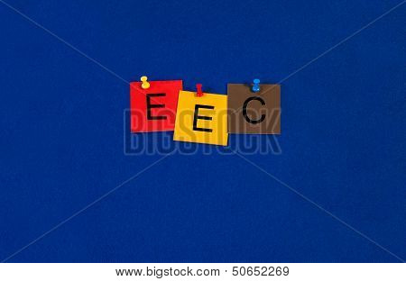 EEC - Business Sign for European Trade and Legislation