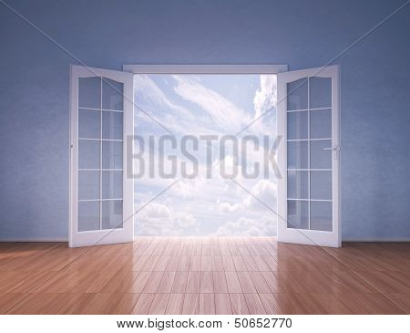 Doors Opening To Blue Skies