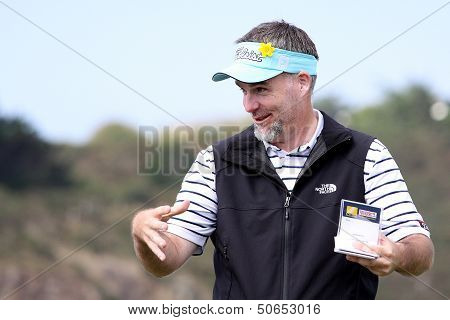 Kenneth Ferrie at the Pleneuf Val Andre golf challenge 2013