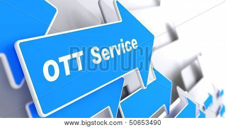 OTT Service.  Information Technology Concept.