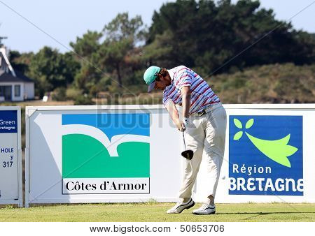 Nacho Elvira at the Pleneuf Val Andre golf challenge 2013