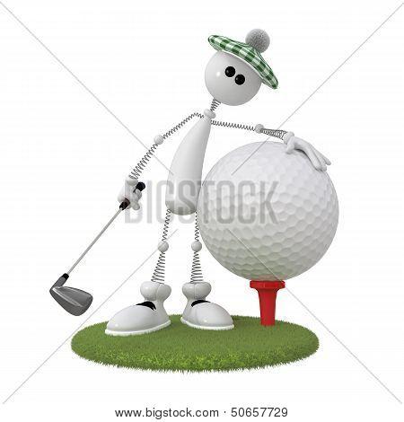 3D Little Man Golfer