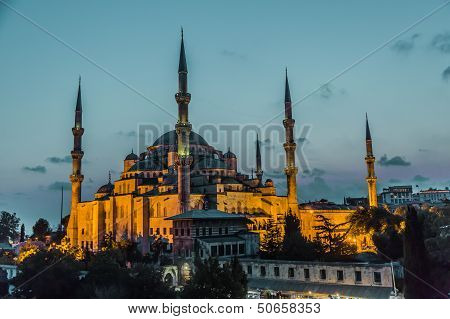 Sultan Ahmed Mosque (the Blue Mosque), Istanbul, Turkey
