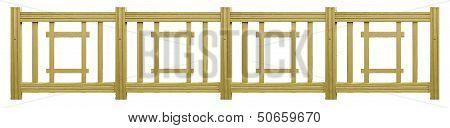 Isolated Wood Fence