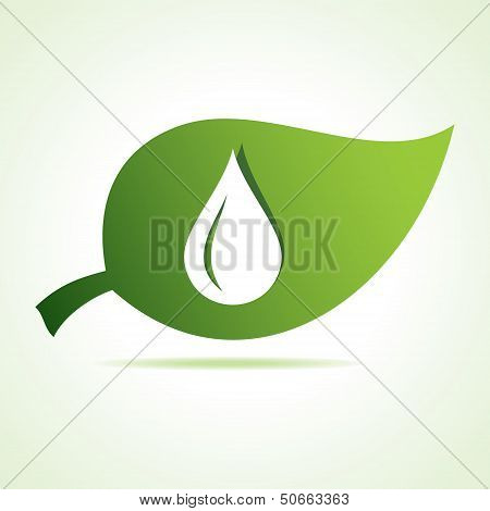 water drop icon at leaf