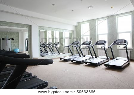 Bright Gym With A Lot Of Windows