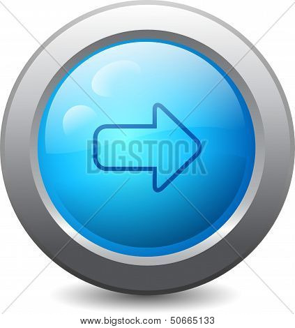Web Button With Right Arrow Icon