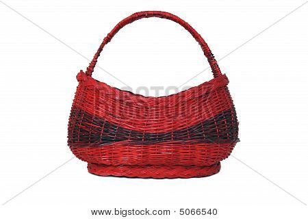 Red Basket Isolated On White