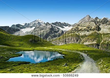 Lake in Swiss Alps