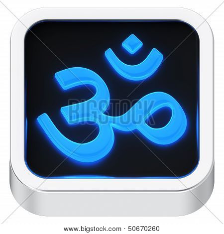 Aum Luminous Icon