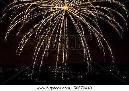 Orange Firework