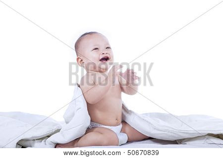 Cheerful Baby Laughing - Isolated