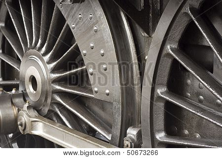 Steam Train Wheels Detail