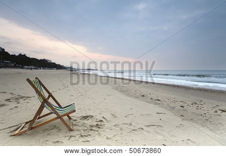 Deck Chair On Bournemouth Beach