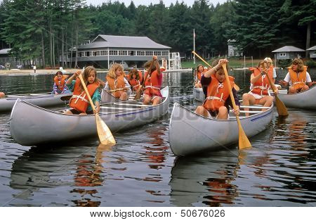 Canoe Lessons At Summer Camp
