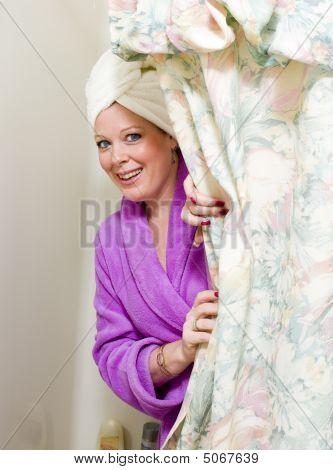 Pretty Woman In Shower