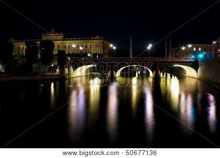 Stockholm Bridge With Arches