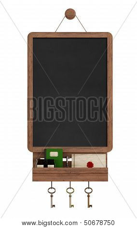 Vintage Blackboard With Shelf