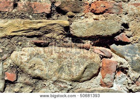 Stone Brick and Mortar Old Wall