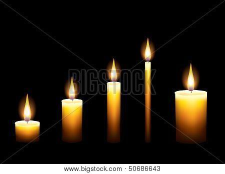 Candles On Dark Background