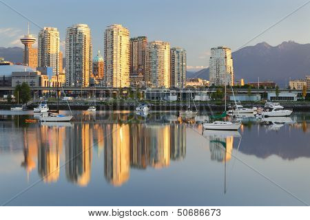 Vancouver Sunrise Reflection, False Creek