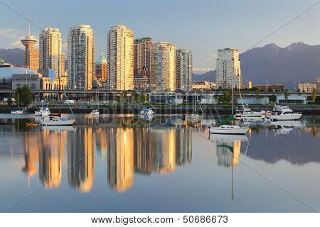 Vancouver Sunrise Reflection, False Creek
