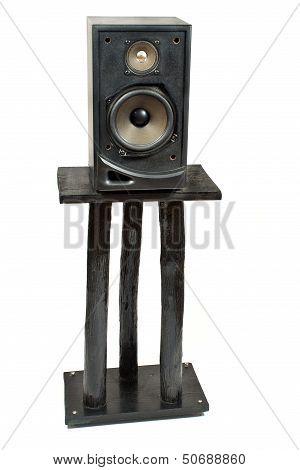 Black Sound Speaker On Stand