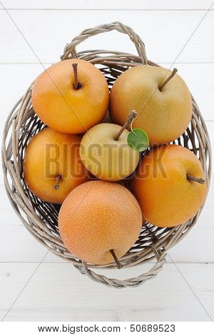 Basket of pearapple