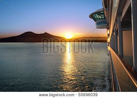 Sunset and Cruise Ship
