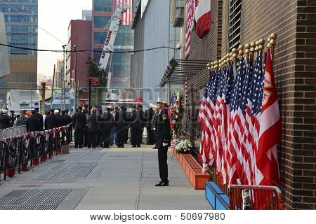 September 11 Memorial Observed in Lower Manhattan