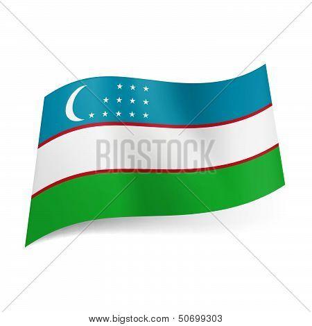 State flag of Uzbekistan.