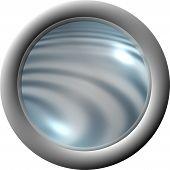 Aqua Clear Button poster