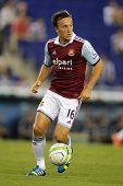 BARCELONA - SEPTEMBER, 5: Mark Noble of West Ham United in action during a friendly match against RC