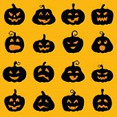 stock photo of jack o lanterns  - Halloween decoration Jack - JPG