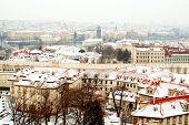 Panorama Of Prague With Its Landmarks poster