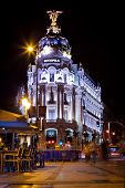 Metropolis Building And Gran Via Street, Madrid