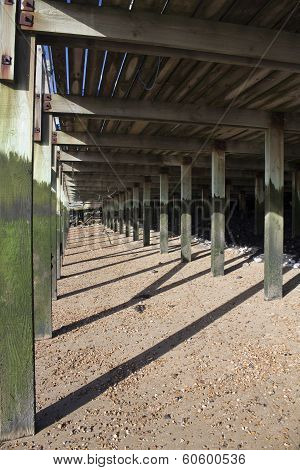 Decking At Leigh-on-sea, Essex, England
