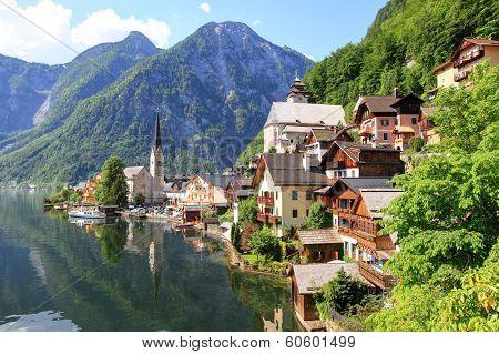 Hallstatt, landmark town in Austria
