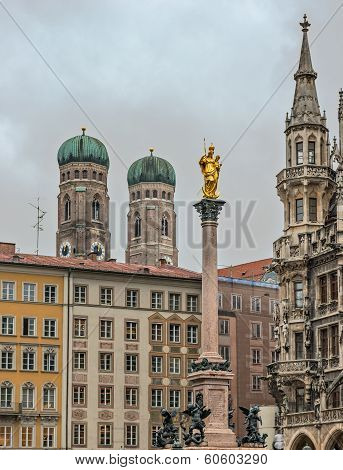 Central Square In Munich