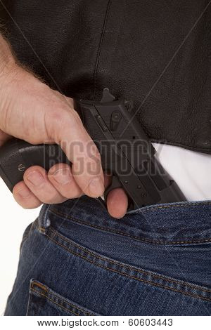 Pull Gun Out Of Pants Close