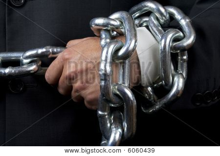 Bussinesman Hand With Huge Chain