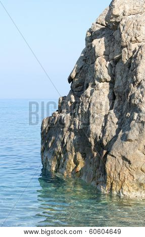 Rock wall on the sea