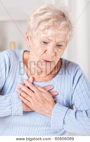 Elderly Lady With Chest Pain