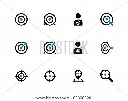 Target duotone icons on white background.
